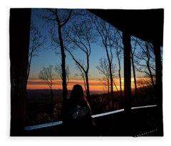 A Sunset View Fleece Blanket