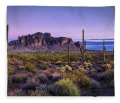 A Superstitious Evening  Fleece Blanket