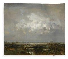 A Swamp In The Landes Fleece Blanket