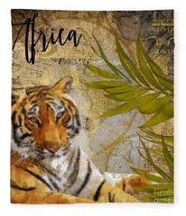 A Taste Of Africa Tiger Fleece Blanket