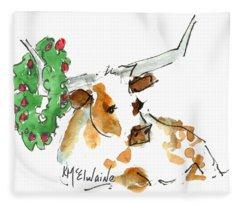 A Texas Welcome Christmas Fleece Blanket