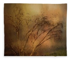 A Touch Of Autumn Fleece Blanket