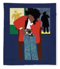 A Tribute To Jean-michel Basquiat Fleece Blanket
