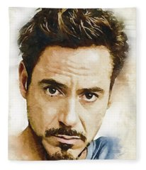 A Tribute To Robert Downey Jr. Fleece Blanket