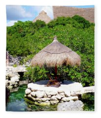 A Tropical Place To Relax Fleece Blanket