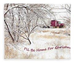 A Trucker's Christmas Card Fleece Blanket