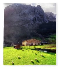 A Typical Basque Country Farmhouse With Sheep Fleece Blanket