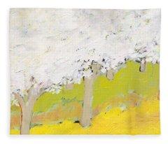 A Valley In Bloom Fleece Blanket