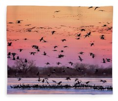 A Vibrant Evening Fleece Blanket