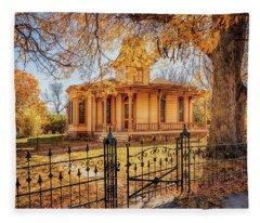 A Victorian Autumn Fleece Blanket
