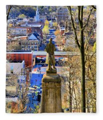 A View From College Hill Fleece Blanket