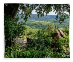 A View From Groznjan Of The Istrian Hill Town Countryside, Istria, Croatia Fleece Blanket