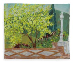 A View From Hearst Castle Fleece Blanket