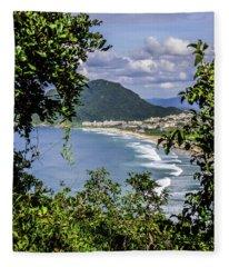 A View Of The Beach Fleece Blanket