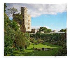 A View Of Windsor Castle Fleece Blanket