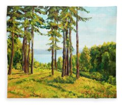A View To The Lake Fleece Blanket