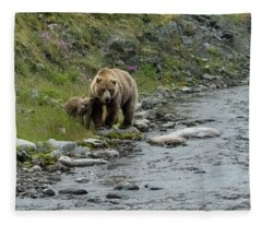A Walk Along The Creek Fleece Blanket