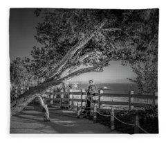 A Walk In The Park B And W Fleece Blanket