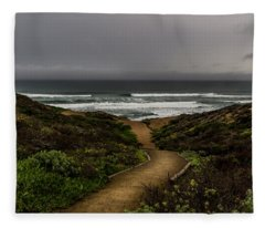 A Walk To The Beach Fleece Blanket