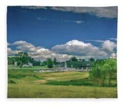 A Warm Sunny Day At The Farm Fleece Blanket