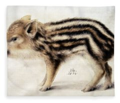 A Wild Boar Piglet Fleece Blanket