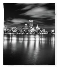 A Windy Night In Boston Fleece Blanket