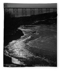 A Winter River Fleece Blanket