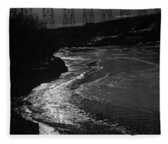 A Winter River Fleece Blanket