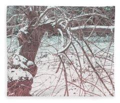 A Winter Tree Fleece Blanket