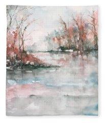 A Winters Dawn Fleece Blanket