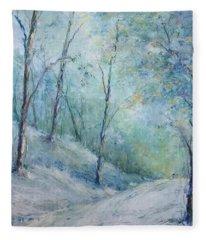 A Winter's Walk Fleece Blanket