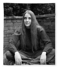 A Woman's Hands, 1972 Fleece Blanket