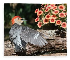 A Woodpecker Conversation Fleece Blanket