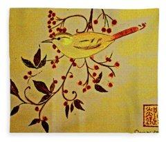 A Wren - In Pastel  Fleece Blanket