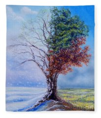 A Year In The Tree Of Life Fleece Blanket