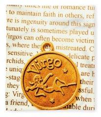 A Zodiac Theme In Virgo Fleece Blanket