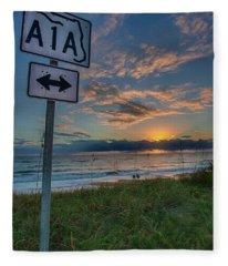 A1a Sunrise Fleece Blanket
