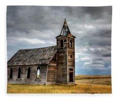 Abandoned Beauty  Fleece Blanket