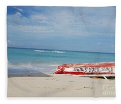 Abandoned Boat Fleece Blanket