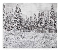 Abandoned Cabin Fleece Blanket