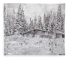 Abandoned Cabin Fleece Blanket