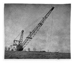 Abandoned Dragline Fleece Blanket