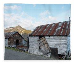 Abandoned Mine Buildings Fleece Blanket