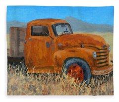 Abandoned Orange Chevy Fleece Blanket