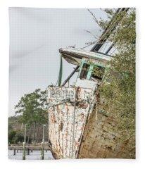 abandoned Ship  Fleece Blanket