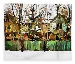 Abandoned Structure In Paint Fleece Blanket