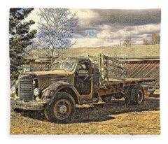 Abandoned Vehicle Canol Project 1945 Fleece Blanket