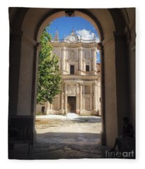 Abbey Of The Holy Spirit At Morrone In Sulmona, Italy Fleece Blanket