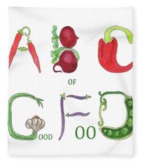 Abc Of Good Food Fleece Blanket
