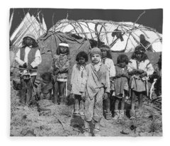 Abducted White Boy Jimmy Mckinn Freed From His Apache Abductors C.s. Fly Photo Sonora  March 1886 Fleece Blanket